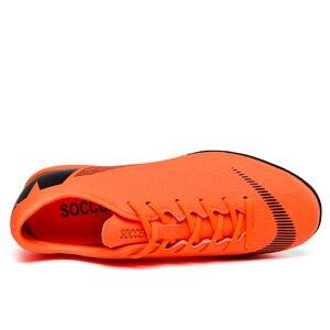 Image 5 - Fußball Schuhe Gebrochen Nägel Atmungsaktive Lace Up Tragen Dämpfung Nicht slip Low Mode Bequemen männer turnschuhe