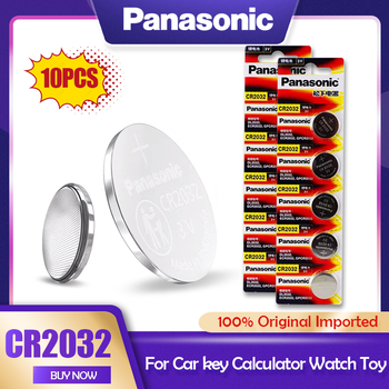 10PCS Original Panasonic 3V CR2032 CR 2032 Lithium Battery For Watch Calculator Toy Electronic Scale Remote Control Button Cell 1