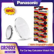 10 шт. оригинальный Panasonic 3 в CR2032 CR 2032 литиевая батарея для часов калькулятор игрушек электронные весы пульт дистанционного управления