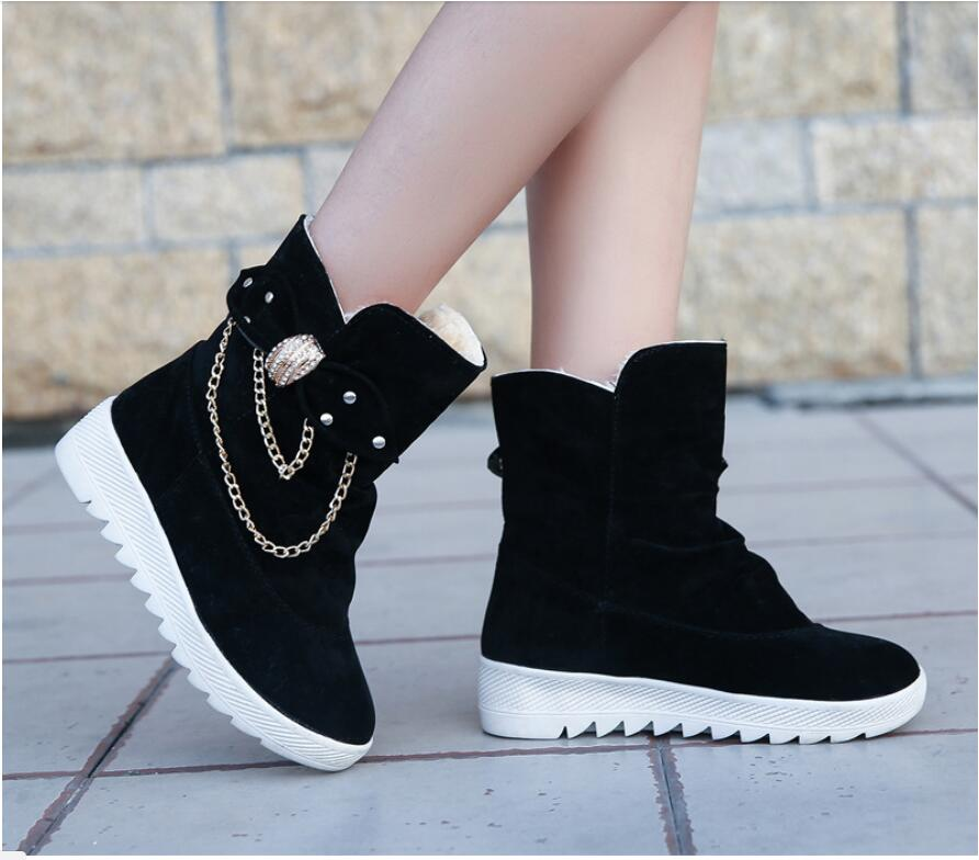2019 Winter New Snow Boots Women's Boots Women's Tube Casual Bow Snow Boots Warm Cold Burning Feet Women's Boots Cotton Shoes 59