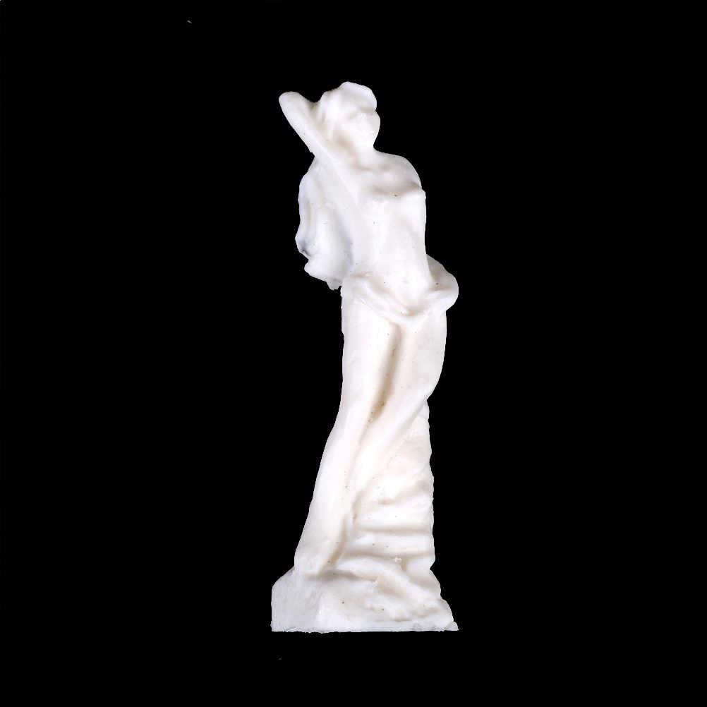 One ชิ้น DIY หน้าแรก Figurines & Miniatures CRAFT สีขาวเทพธิดา Works Art Figures รูปปั้นประติมากรรมหัตถกรรม