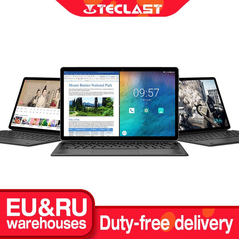 Планшет Teclast M16 с док-клавиатурой, 11,6 дюйма, 4 Гб ОЗУ, 128 Гб ПЗУ, десятиядерный Helio X27, Android планшет, 4G звонки, 7500 мАч, Type-C, HDMI
