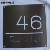 Stainless Steel Custom Made Laser Cut House Signs  Numbers and Plaques|Door Plates| |  -