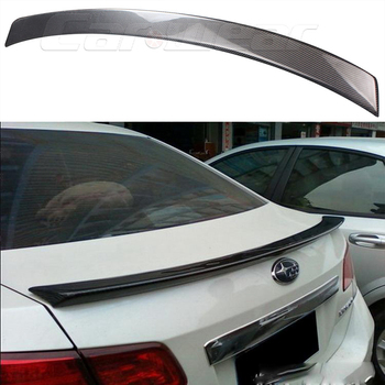 Car-Styling For subaru Legacy Carbon Fiber rear trunk boot Wing Spoiler 2010~2014