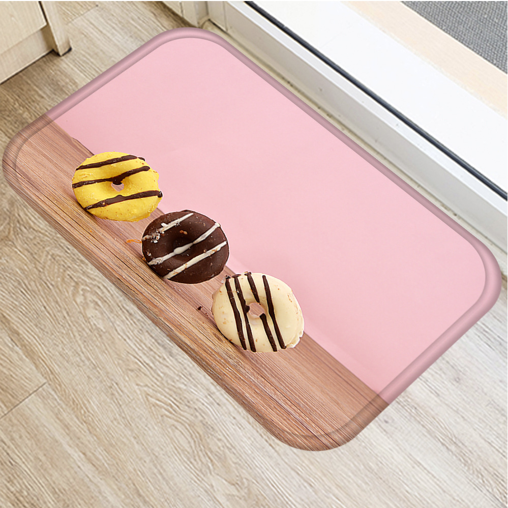 New Delicious Cookies Flannel Thicken Soft Mat Doormat Bathroom 