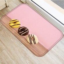 Novo delicioso biscoitos flanela engrossar tapete macio capacho tapete de banheiro casa quarto hotel decorativo capacho tapete 40x60cm ..
