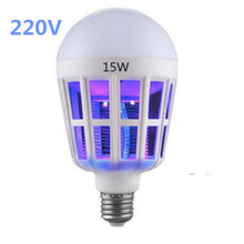 E27 220V LED Bulb With Mosquito Killer Lamp Electronics Fly Bug Insect Zapper Trap 15W Home Lighting thermacell