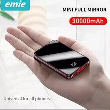 Mi ni power Bank 30000 мАч для iPhone 8 Xs Xiaomi mi power bank Pover Bank зарядное устройство 2 usb порта Внешняя батарея Poverbank портативный