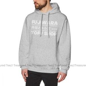 Image 4 - Initial D Hoodie Initial D Fujiwara Tofu Shop T Weiß Hoodies Baumwolle Männlichen Pullover Hoodie Nizza Lange Länge Herbst Grau hoodies