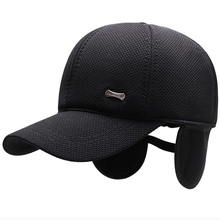 HT2620 Winter Baseball Cap 2019 New Autumn Caps for Men Thick Warm Earflap Adjustable Hat Ear Flap Dad