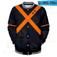 Бейсбольная куртка 3d мужская бомбер аниме Моя геройская Академия