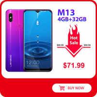 Мобильный телефон LEAGOO M13, на базе Android 9.0, HD IPS WaterDrop экран 6,1 дюйма, 4 ГБ ОЗУ 32 ГБ ПЗУ, MT6761, 3000 мАч, двойная камера, 4G смартфон