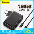 Baseus GaN Ladegerät 100W PD QC 4,0 3,0 USB Schnelle Ladegerät Typ C Schnelle Lade USB C Telefon Ladegerät für iPhone 12 Pro Max Macbook