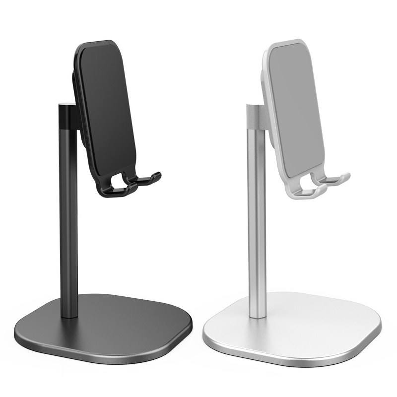 Universal Desk Cell Phone Desk Stand Holder Adjustable Aluminum Desktop Portable Stand For All Mobile Smart Phone