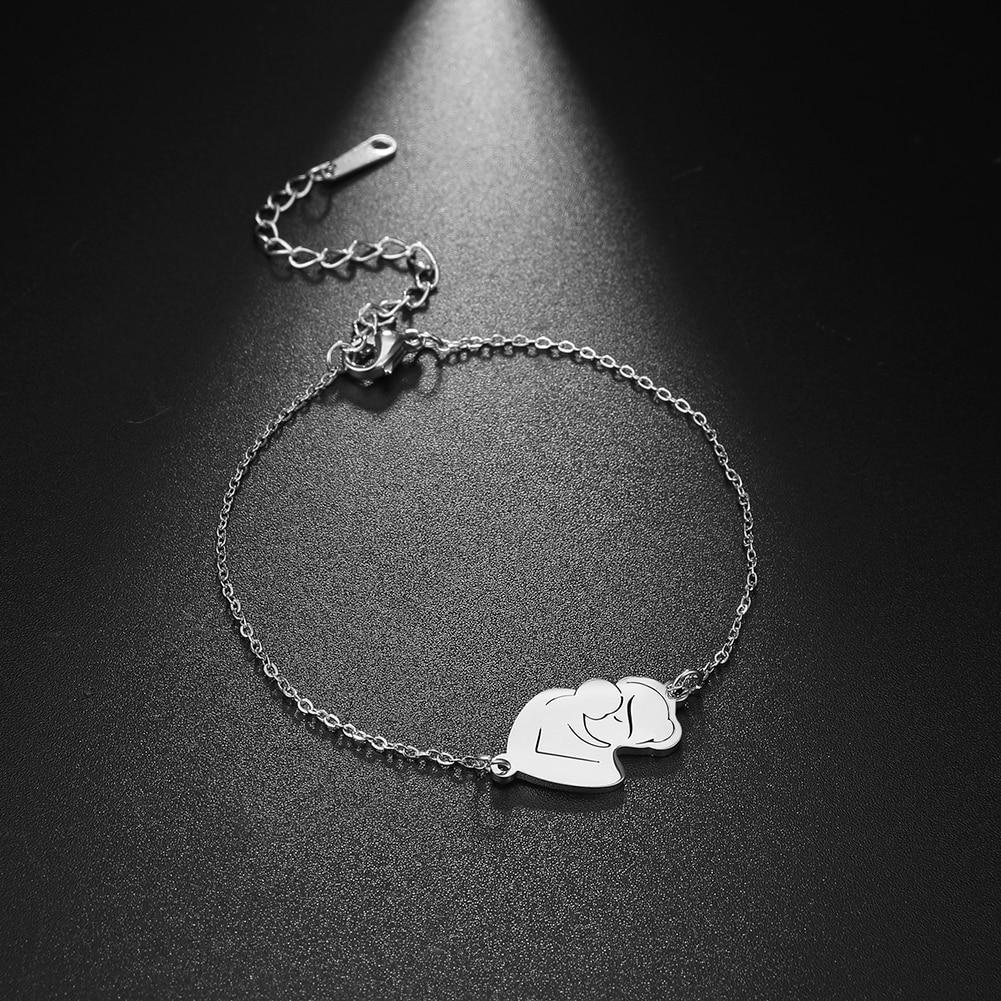 Skyrim модный браслет из нержавеющей стали с цепочкой для мамы и ребенка, очаровательные браслеты для всей семьи, ювелирные изделия, подарок дл...