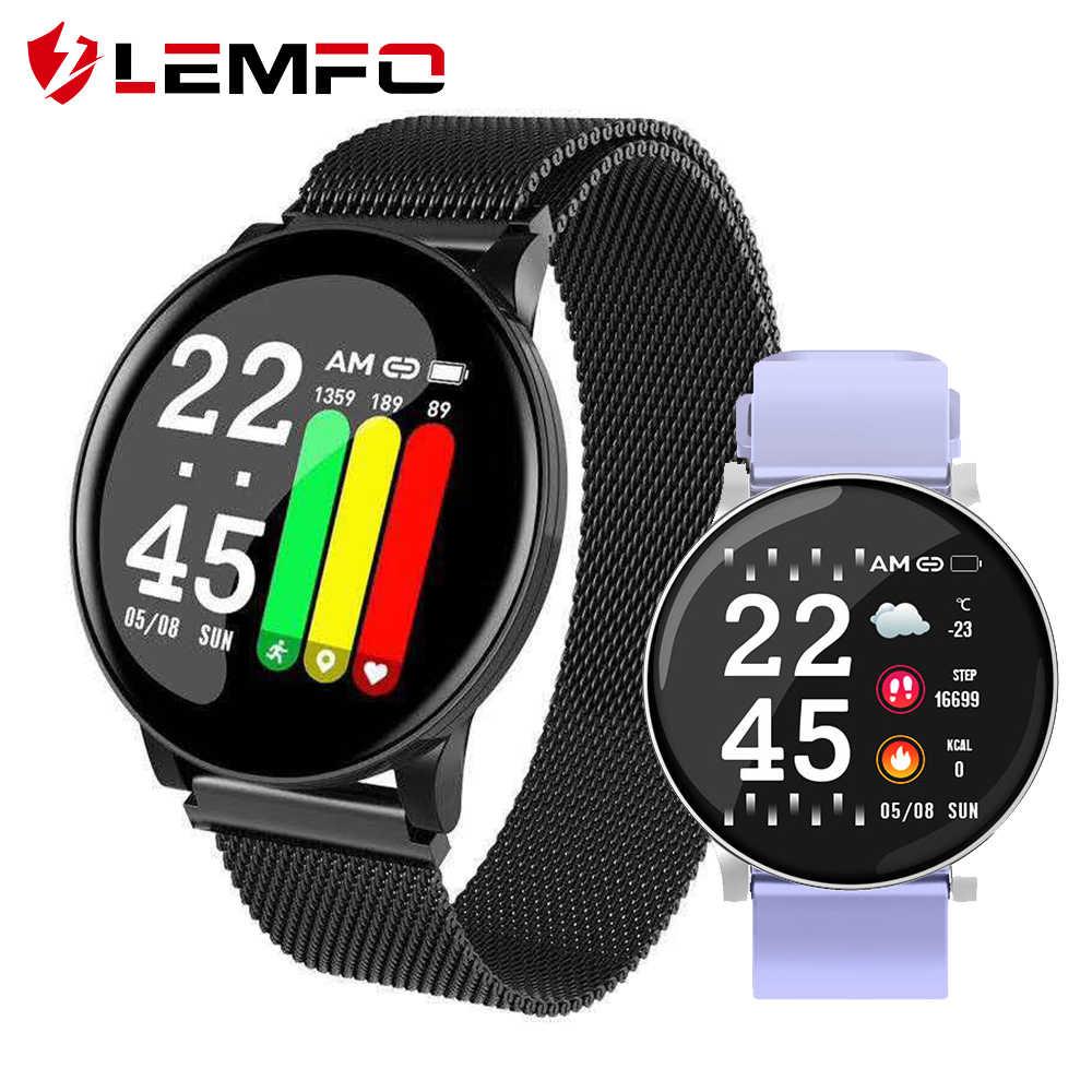 LEMFO ساعة ذكية الرجال معدل ضربات القلب ضغط الدم شاشة عرض نسبة الأكسجين في الدّم ل أندرويد هاتف Apple الرياضة جهاز تعقب للياقة البدنية ساعة ذكية النساء
