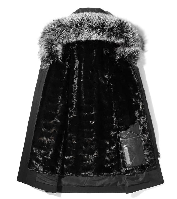 Parka Homme Real Mink Fur Liner Parkas Winter Jacket Men Fox Fur Collar Long Coat Plus Size 4xl Winterjas Heren MY1270