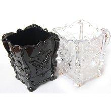 Ретро органайзер для макияжа, косметическая хлопковая коробка для хранения, акриловый чехол с рисунком бабочки, держатель, шкатулка для ювелирных изделий
