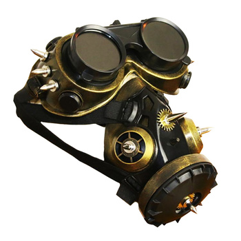 Motorcycle Full Face Skull Mask Face Mask Goggles Glasses Gothic Vintage Anti-fog Haze Gas Masks Steampunk Halloween Party