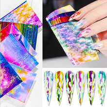 16pcs 3D Nail Art Decorations Glitter Laser Leaves Flame Butterfly Holographic Foil Nail Stickers Water Transfer Decals DIY Tips 20pcs lot nail art stickers diy 3d nail tips design water transfer foil glitter decals manicure nail decoration tools stickers