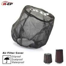R-EP, Универсальный воздушный фильтр, защитный чехол, водонепроницаемый, маслостойкий, пылезащитный, для высокого потока, воздухозаборные фильтры, черный