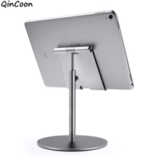 Large Size & Height Adjustable Aluminum Tablet Stand 360° Rotation Desk Tablet Holder for iPad Tab Kindle Nintendo Switch(4-13