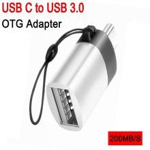 Mini usb c para usb otg adaptador usb c tipo-c otg cabo adaptadores type-c conversores para telefones android tablets mouse portátil u-disco