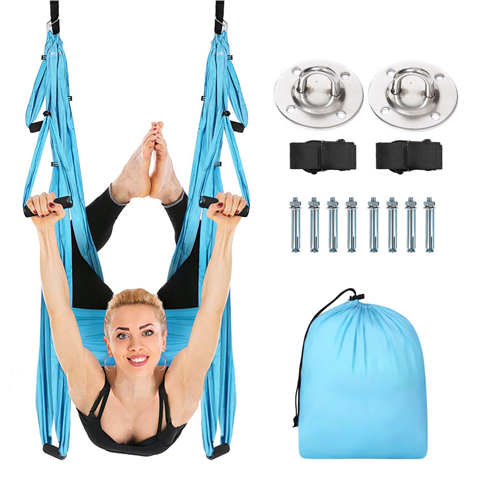 Anti-Gravity Yoga Hammock Yoga Flying Swing Aerial Traction Device Equipment For Pilates Body Shaping Home Hanging Belt D20