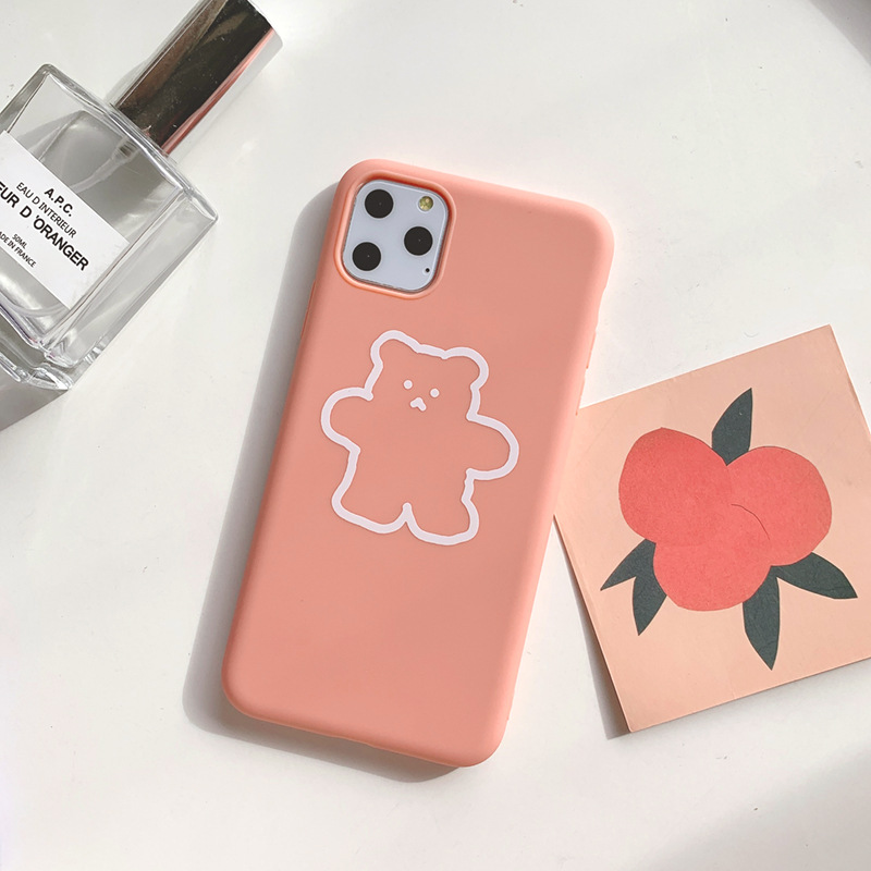 2020 Fashion Cute Cartoon Animal Bear Case For Iphone 11Pro 11 11Promax 6 6S 7 8 6S Plus 7Plus 8Plus X XS MAX XR X 8 Soft Case