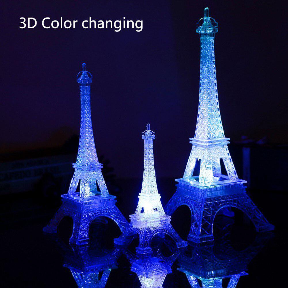 MeterMall  Romantic Eiffel Tower Cute Mini LED Night Light Lamp Desk Table Home Bedroom Decorate Gif Night Lights