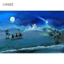 Laeacco Christ Jesus Nativity Night  Scene Photography Background Vinyl Customized Seamless Backdrops Props For Photo Studio