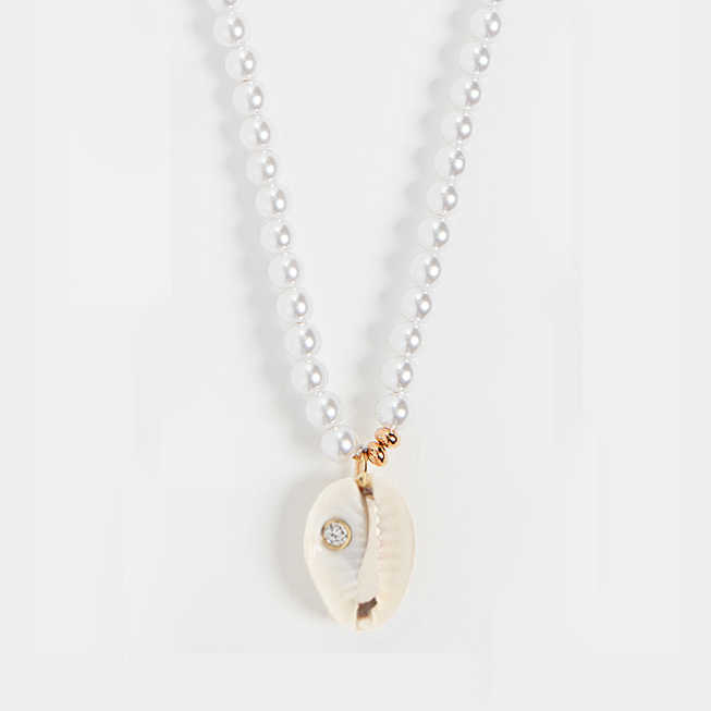 ไข่มุกผู้หญิง SHELL สร้อยคอผู้หญิง Kolye หัวใจสร้อยคอจี้เครื่องประดับ Gothic Choker Collares Collares De Moda 2019