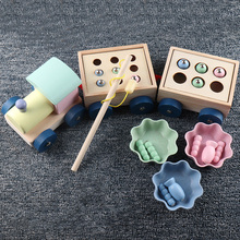 Kids Toys Interactive Wooden Toys Magnetic Games Fishing Toys Catch Worm Baby Early Educational Toys For Children Girl Gifts cheap Unisex 3 years old MWZ-98855 Non-electric