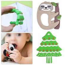 Baby Silicone Teethers Free Teething Toy Animal Dog Koala Owl Elephant Ring Teether