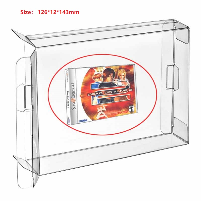 Ruitroliker 40Pcs Clear Protection Case Sleeve CIB for Dreamcast Single CD box Games Cartridge image