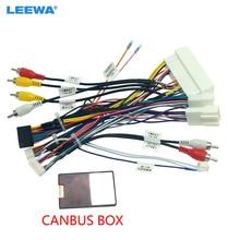 Leewa áudio do carro 16pin cablagens com caixa de canbus para kia kx5/kx7 hyundai sonata 9 estéreo instalação fio adaptador # ca6771