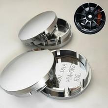 4Pcs set Car Wheel Center Cap Chrome 56mm Hub Tyre Rim Cover Universal Silver High quality