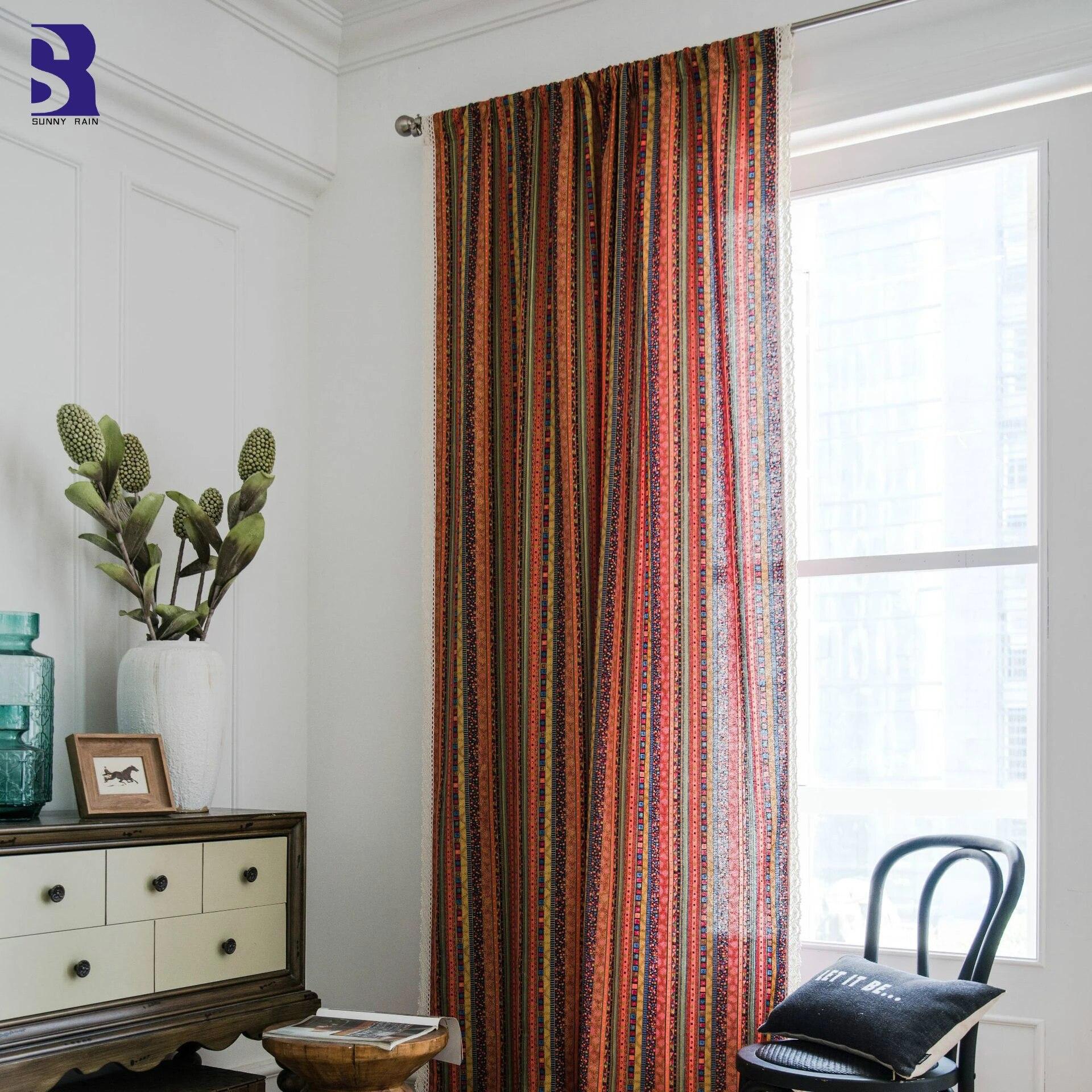 Piece Linen Cotton Window Curtain