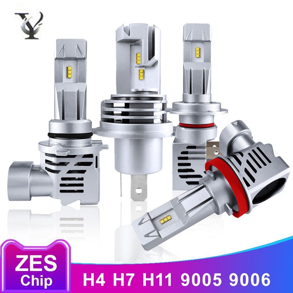 H7 LED Super Bright ZES Chip H4 H11 9005 HB3 9006 HB4 Led Headlight Bulbs Hi-Lo Beam 12V 6000LM 6500K AutoLamp Accessories