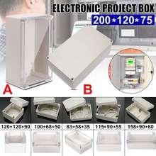 6 rozmiar wodoodporna plastikowa obudowa elektroniczny projekt obudowa oprzyrządowania elektryczne pudełko projektowe zewnętrzna skrzynka przyłączeniowa obudowa