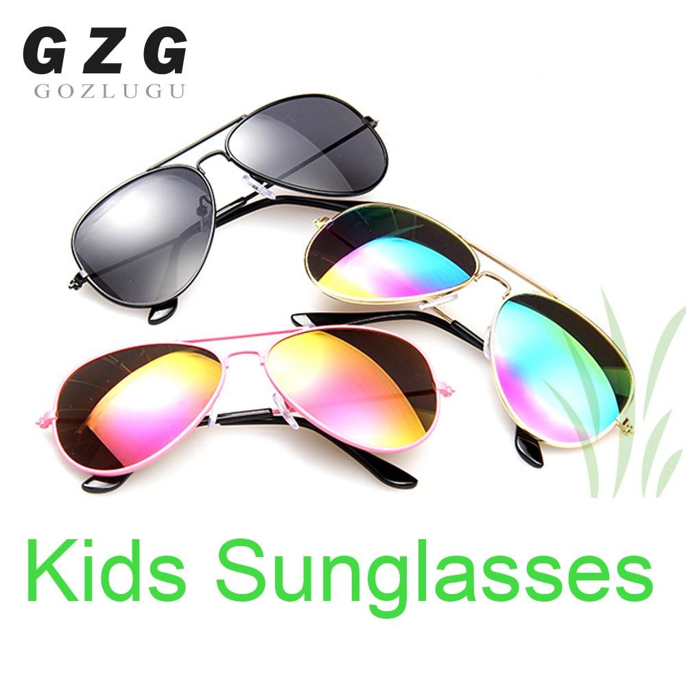 2020 Classic Vintage Sunglasses Children Colorful Mirror Glasses Boys/Girls Metal Frame Kids Cute Outdoor Eyeglasses