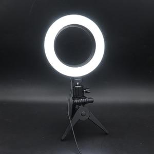 Image 5 - Светодиодная кольцевая лампа для селфи 16 см с регулируемой яркостью для камеры, кольцевая лампа для телефона, 6 дюймов, настольные штативы для макияжа, видеостудии