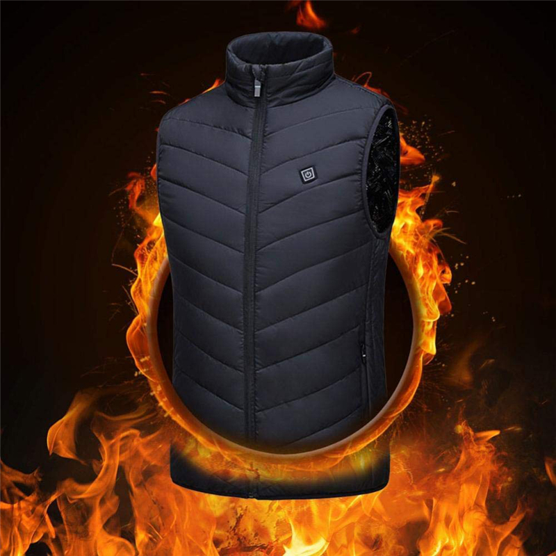 Electric Heated Vest Jacket Men Women Usb Heated Outdoor Vest Winter Heated Jacket Heating Waistcoat Thermal Warm Clothing