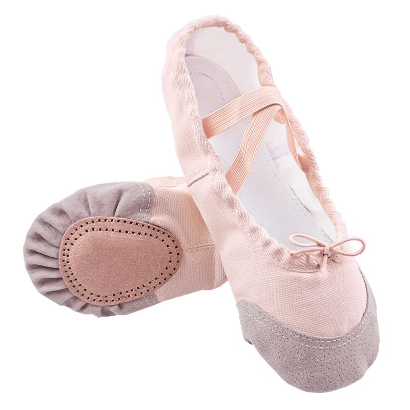Cloth/Leather Head Yoga Slippers Teacher Gym Indoor Exercise Canvas Ballet Dance Shoes Children Kids Girls Woman