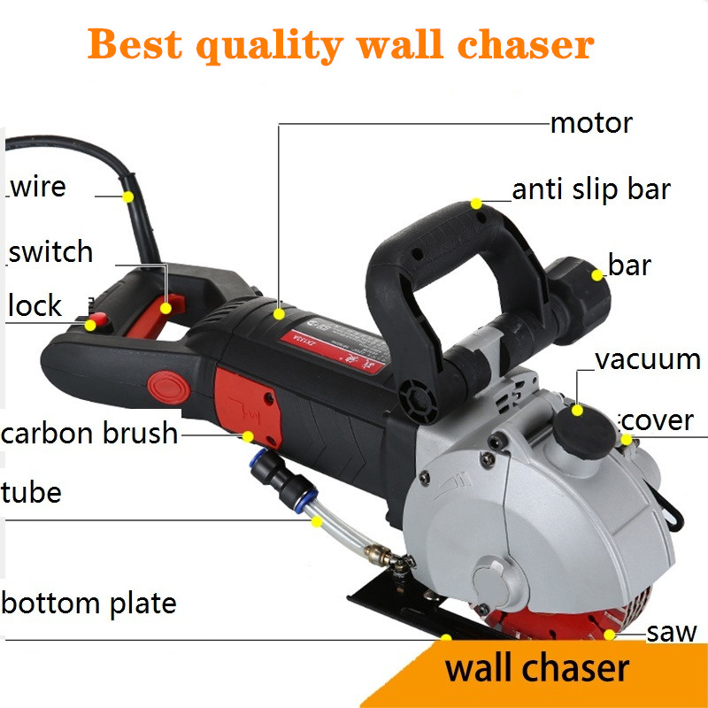 Best Quality Wall Chaser Tools For Home Decoration Laser Water Electric Slotting Machine Cutting Machine