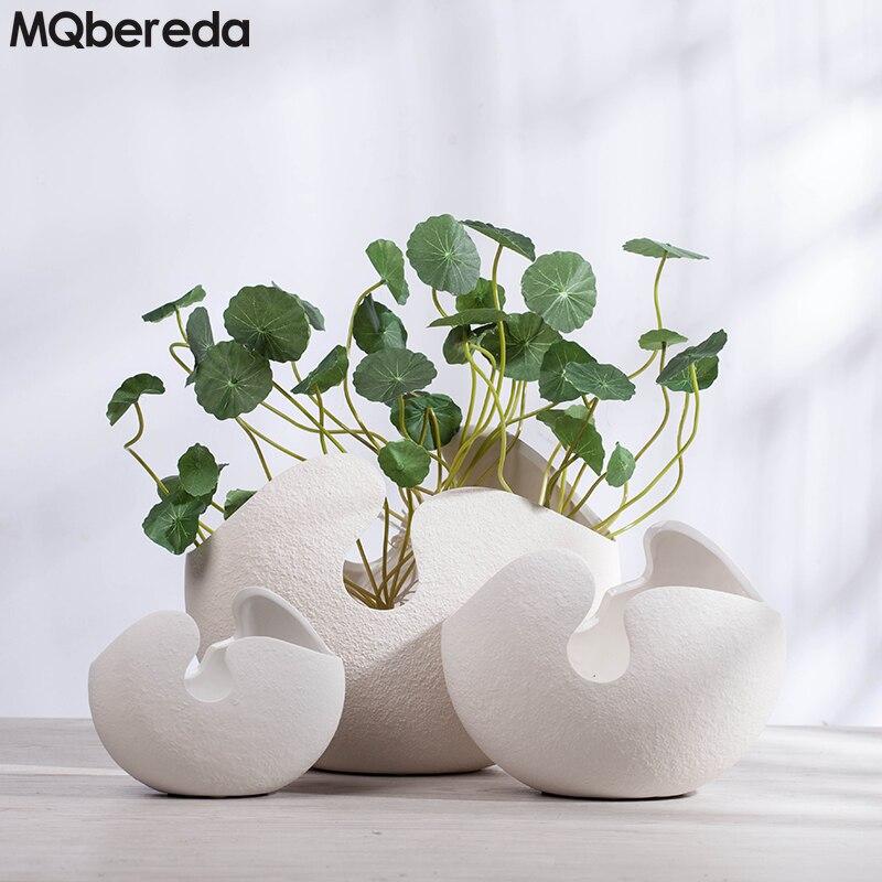 Florero de cerámica creativo moderno Adornos Cáscara de huevo - Decoración del hogar