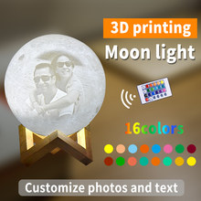 Customized Moon Lamp Photo/Text Custom Kids Wife's Gifts Night Light LED USB Charging Tap Control 2/16 Colors Lunar Lamp