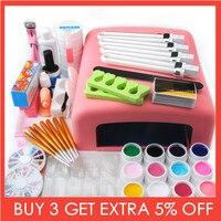 36w Lamp Dryer for Nails UV Gel Polish Nail Kit False Tip Manicure Nail Extension Nail Tools Kit