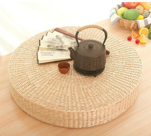 HOT SALE 40cm Tatami Cushion Round Straw Weave Handmade Pillow Floor Yoga Chair Seat Mat for home office soft cushion