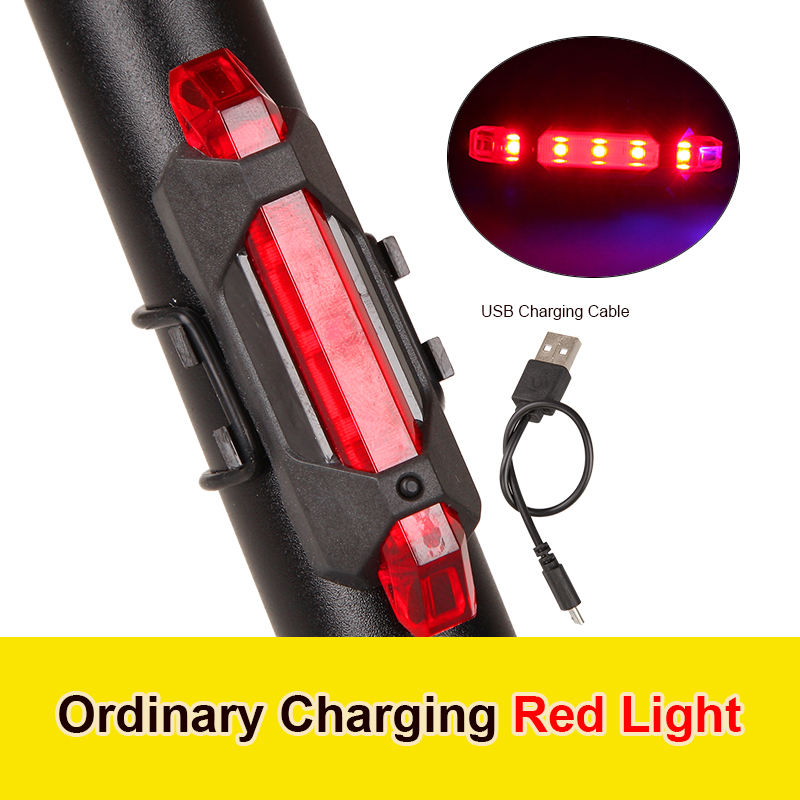 Велосипед хвост светильник USB Перезаряжаемые 4 режима велосипед задний свет, светодиодные задние фонари светильник ночное Безопасность Пре...